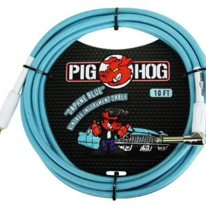 Pig Hog 10ft Vintage Series Instrument Cable with Right Angle Connector